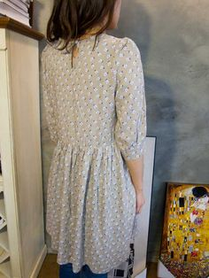 $25 chesed daisy dress/cotton/free size/beige ,yellow available