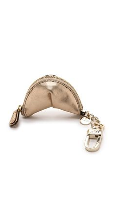 the cutest stocking stuffer! // fortune cookie zip coin purse charm