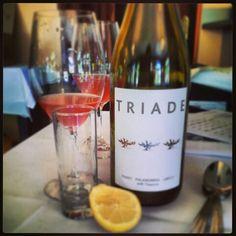 #LuciWineDinner Cocktails - Tre Triadi - Three Triades - the Wine, the Fruit, the Extras