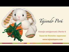 Conejo amigurumi (Parte 1: tejiendo el cuerpo y la cabeza) - EN ESTE CANAL DE YouTube HAY VIDEO-TUTORIALES PARA APRENDER A tejer amigurumi: muñecos y otros