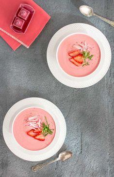 Koude Aardbeien Soep | Model Workout Magazine 4 ingrediënten