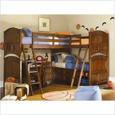 This bunk bed set would be perfect it's made for triplets
