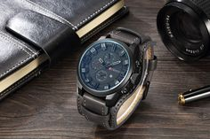 CURREN Top Brand Luxury Mens Watches Male Clocks Date Sport Military Clock Leather Strap Quartz Business Men Watch Gift Quartz Watches from Watches on AliExpress Vintage Watches For Men, Luxury Watches For Men, Mens Watch Brands, Men Watch, Casual Watches, Sport Watches, Leather Men, Thick Leather, Mens Fashion