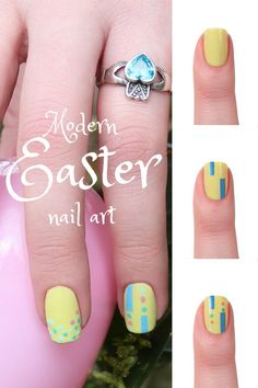 Modern Easter Nail Art | Modern Easter Manicures + $25 Paypal Giveaway