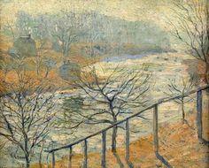 Ashcan School - Ernest Lawson part 4 Mountain Landscape, Urban Landscape, Modern Art Artists, Ashcan School, American Impressionism, Post Impressionism, Most Famous Artists, Art Students League, Impressionist Landscape