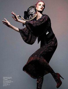Daria Strokous by Daniel Jackson forVogue China,October 2012