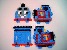 3D Thomas the Tank Engine perler beads