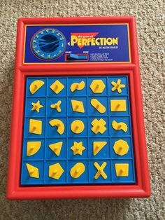 Vintage Perfection Board Game by Milton BradleyGame is in great shape and is complete. The box has very light wear. Comes from pet free and smoke free home.Please check out my store for more vintage toys and games. Old School Board Games, Family Board Games, Retro Toys, Vintage Toys, 1990s Toys, 1980s, Milton Bradley, Old Commercials, Old School Toys