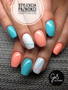 Cute Gel Nails, Short Gel Nails, Fancy Nails, Toe Nails, Cute Nail Art Designs, Acrylic Nail Designs, Stylish Nails, Trendy Nails, Manicure E Pedicure
