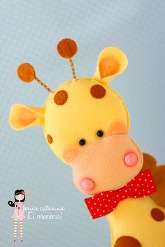 Wool Felt Giraffe by Ei Menina!