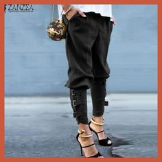 ZANZEA Women 2016 Summer Autumn Women Harem Pants Casual Loose Elastic Waist Long Pants Leisure Trousers Army Green Plus Size We offers a wide selection of trendy style women's clothing. Affordable prices on new tops, dresses, outerwear and more. Fashion Mode, Look Fashion, Womens Fashion, Fashion Trends, Fashion 2015, Fashion Check, Fashion Online, Fashion Pants, Fashion Styles