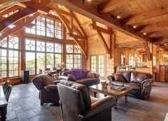 lofting timber framing raised this 1 800 square foot timber framed