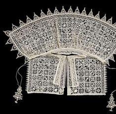 c. 1600 Reticella lace collar (L: 64 cm) - Rijks Museum BK-14612