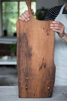 """Beautiful Board by Bart at Dare Designs, this reclaimed piece of mahogany has now been turned into a handy board, 29"""" long and 10"""" wide and only about 5 lbs. To add to the character there are a few wo"""