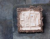 """CUSTOM Laser Cut Shadowbox Map With Personalized Wood Frame- 8"""" map. $100.00, via Etsy."""