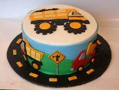 birthday-celebration-cakes depins-on-what-you-like Tonka Truck Cake, Truck Cakes, Tonka Trucks, Truck Birthday Cakes, Food Trucks, Fancy Cakes, Cute Cakes, Sweet Cakes, Construction Birthday Parties