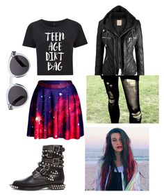 """Jessie Paege inspired look"" by mouthfullofwhitelies ❤ liked on Polyvore featuring Yves Saint Laurent and Illesteva"