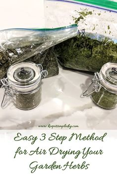 Easy 3 Step Method for Air Drying Your Garden Herbs - Keep it Simple, DIY