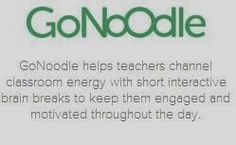 Juice Boxes and Crayolas: The Mother of All Brain Breaks Sites--GoNoodle!! brain break