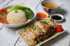 Hainanese Chicken Rice Recipe, Chicken Rice Recipes, Rice Cooker Recipes, Crockpot Recipes, Yummy Recipes, Singapore Chicken Rice, Taiwan Food, Rice Dishes, Main Dishes