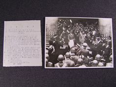 Original Photograph of Adolf Hitler, Mussolini, SS Heinrich Himmler, and others, £95