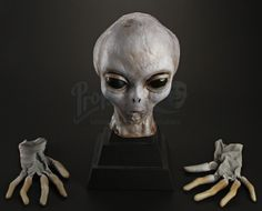 Grey Alien Mask and Gloves from The X-Files!   Prop Store - Ultimate Movie Collectables