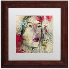 Trademark Fine Art Ana Lucia Canvas Art by Andrea, White Matte, Wood Frame, Size: 11 x 11, Brown