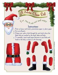 Articulated Santa Claus Paper Doll, via Etsy.