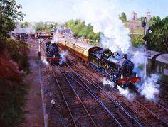 Railway Paintings by John Austin FGRA...BRIDGNORTH DEPARTURE..17
