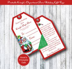 Christmas Kringle's Department Store by SmatsPrintableCafe on Etsy