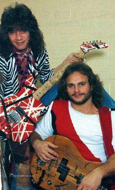 Eddie Van Halen and Michael Anthony