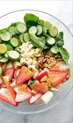 Strawberry Cucumber Spinach Salad with Apple Cider Vinaigrette. | healthy salads | | healthy salads clean eating | | healthy salads recipes | #healthysalads #healthysaladscleaneating #healthysaladsrecipes https://www.tigermedical.com