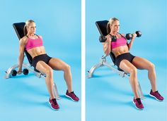 Dumbbell Incline Bench Curl