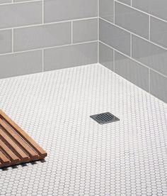 Top 60 Best Bathroom Floor Design Ideas - Luxury Tile Flooring Inspiration Shower Floor Tile, Bathroom Floor Tiles, Bathroom Cabinets, White Mosaic Bathroom, White Bathrooms, Best Bathroom Flooring, Tile Flooring, Flooring Store, Flooring Ideas