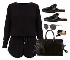 """""""Untitled #2934"""" by theaverageauburn on Polyvore featuring Helmut Lang, Yves Saint Laurent, Gucci and Simons"""