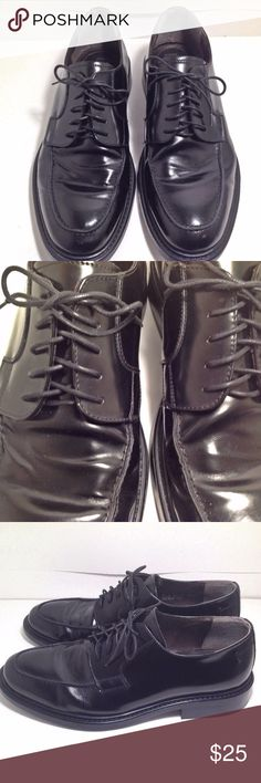 """Leather Shoes For Men, Black Dress Shoes Leather Shoes For Men, Designed by J. Ferrar Size 13-M  Shoe String Lace Up Closure Made In Italy 1"""" Heel Orders ship within 1 Business Day excluding weekends. Add multiple items to a bundle to get 15% off, plus you'll save on shipping. Thanks For Shopping with Dress To Impress Thrift & Boutique.  Have A Great Day J. Ferrar Shoes Oxfords & Derbys"""