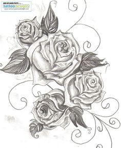 Rose Tattoo minus the swirlys.