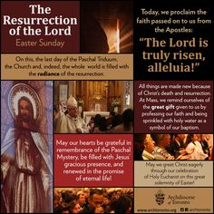 """On the Resurrection of the Lord (Easter Sunday) we proclaim: """"The Lord is truly…"""