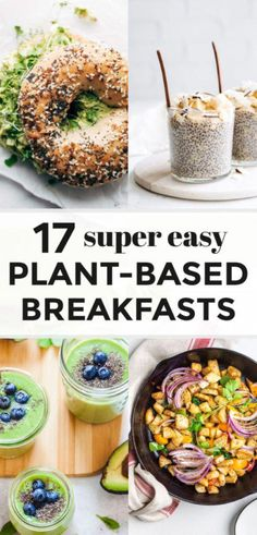These 17 Easy Plant-Based Breakfast Recipes are loaded with the most delicious and wholesome plant foods and some might even surprise you. If you like savory or sweet for breakfast there's a healthy plant-based option for everyone and I'm answering ' Plant Based Diet Meals, Plant Based Whole Foods, Plant Based Eating, Easy Plant Based Recipes, Plant Based Snacks, Plant Diet, Nutrition Herbalife, Diet And Nutrition, Nutrition Quotes