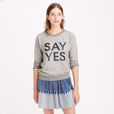 Pin for Later: It's Already August?! What You Need to Make Your Summer Style Last J.Crew Graphic Sweatshirt
