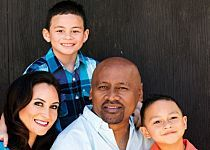 """Celebrates his birthday. """"I didn't even think I'd make it to he says, shaking his head. , Jonah, wife Nadene and sons Brayley and Dhyreille ♥ → Jonah Lomu's daily blessings - New Zealand Womans Weekly Jonah Lomu, Black Legend, Long White Cloud, Womans Weekly, All Blacks, New Week, 40th Birthday, Rugby, Blessings"""