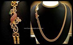 Peacock Design Mugappu Gold Chain   Latest Indian Jewellery Designs