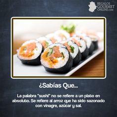 """¿#SabíasQueLa palabra """"sushi"""" no se refiere a un plato en absoluto?#Curiosidades#Gastronomía"""