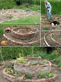 Herb Garden Layout Ideas i would like to include italian plum tomatoes too but at this point my want to exceeds my know how Spiral Herb Garden Design Photograph Building My Brick Her