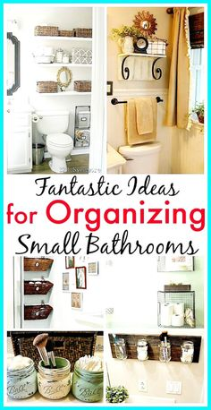 11 Small Bathroom Organization Ideas- If you want to organize a small bathroom in your home, then you need to see these 11 fantastic small bathroom organizing ideas! They're really clever ways to maximize your bathroom storage! Small Bathroom Organization, Diy Organization, Organizing Ideas, How To Organize A Bathroom, Bathroom Storage Diy, Small Apartment Organization, Organized Bathroom, Toilet Storage, Organising