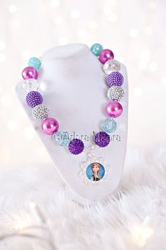 Princess Anna Frozen Necklace Disney Frozen by AdoreMooreBoutique, $22.00