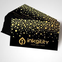 Gold Foil on your #BusinessCard from @inkgility
