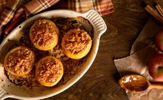 Baked Apples with Caramel and Sweet Streusel Crumble | Recipe by TasteBook #FNDish
