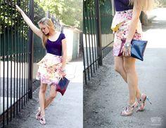Sample sale...High waisted floral skirt short by CarouselFashion, $32.00