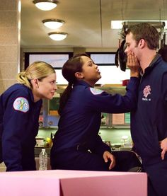 Lauren German, Monica Raymund and Jesse Spencer